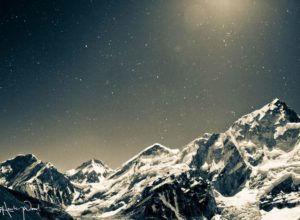 Mount Everest and stars, Nepal