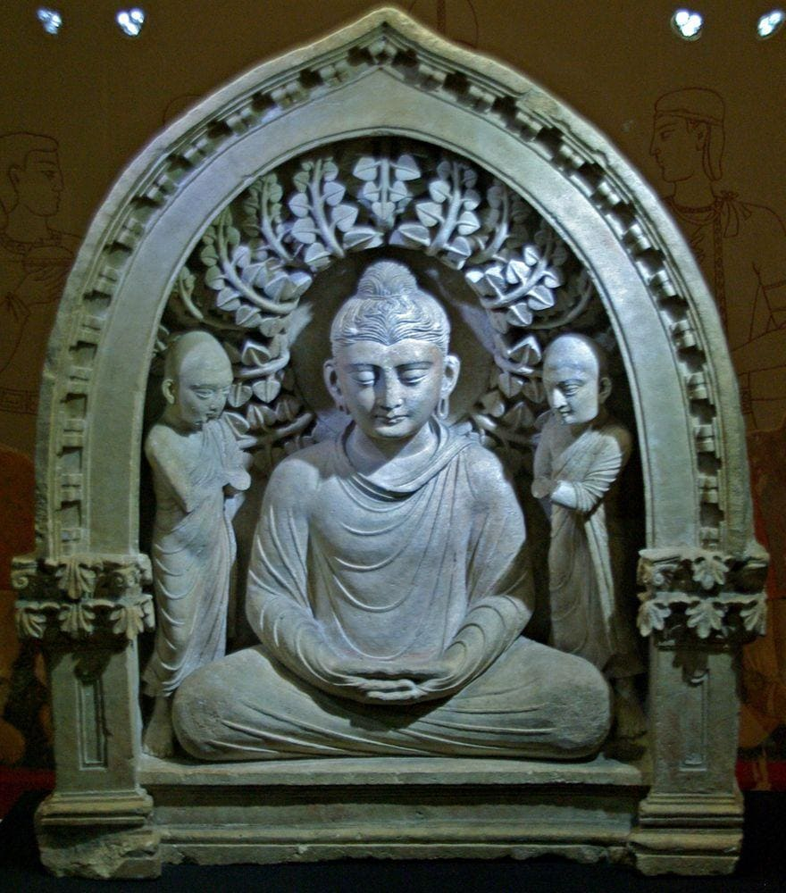 Sculpture of Buddha from Fayaz-Tepe, now in Tashkent