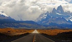 Landscape in Patagonia with Monte Fitz Roy, Argentina