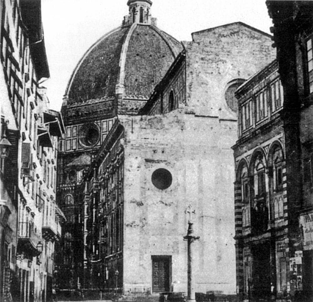 Florence cathedral without the facade, the 1860s