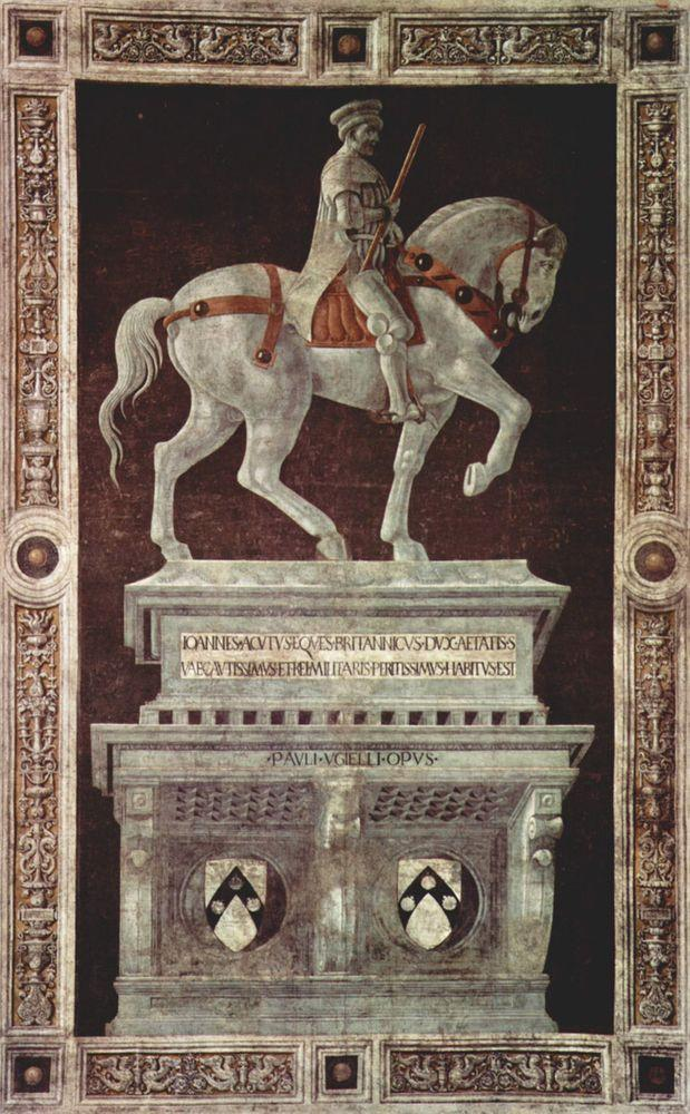 Funerary Monument to Sir John Hawkwood in Florence Cathedral, Paolo Uccello