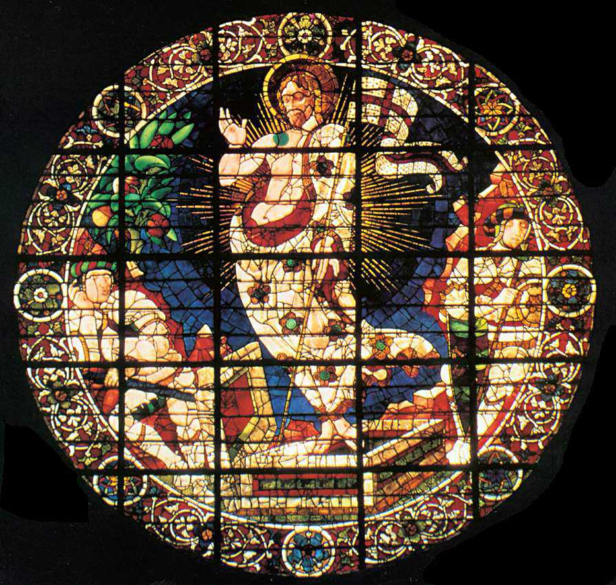 Stained glass in Florence Cathedral by Paolo Uccello - Resurrection of Christ, 1443 - 1445