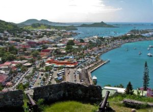 View from Fort Saint-Louis to Marigot, Saint Martin