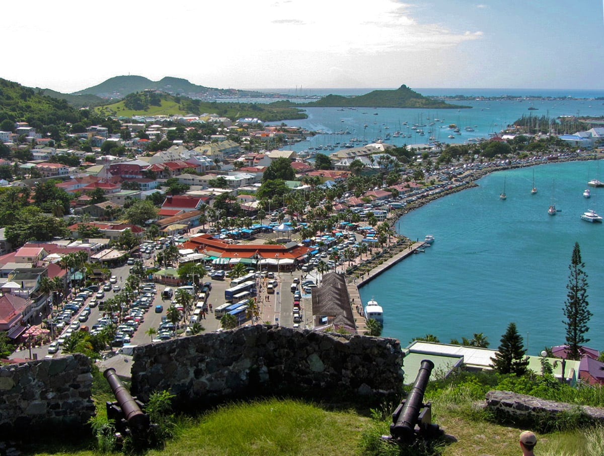 View from Fort Saint-Louis to Marigot, one of the wonders of Saint Martin