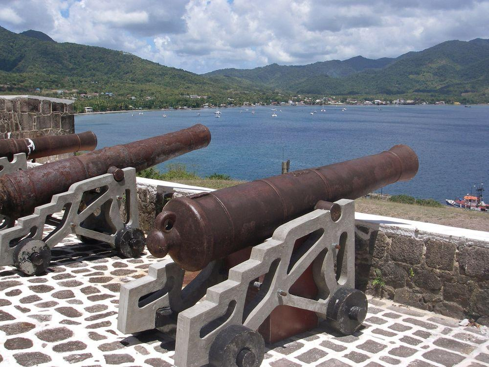 Cannons in Fort Shirley, Dominica