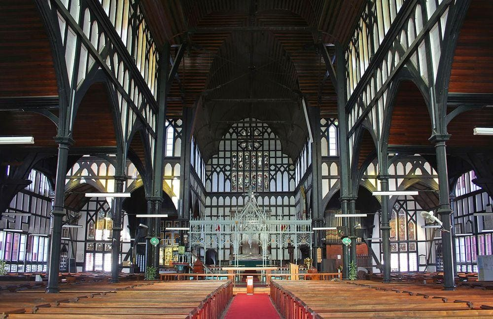 Georgetown Cathedral in Guyana, interior