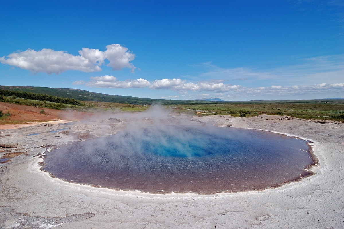 Geysir from above, Iceland