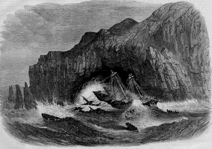 "Wreck of ship ""General Grant"", May 14, 1866"