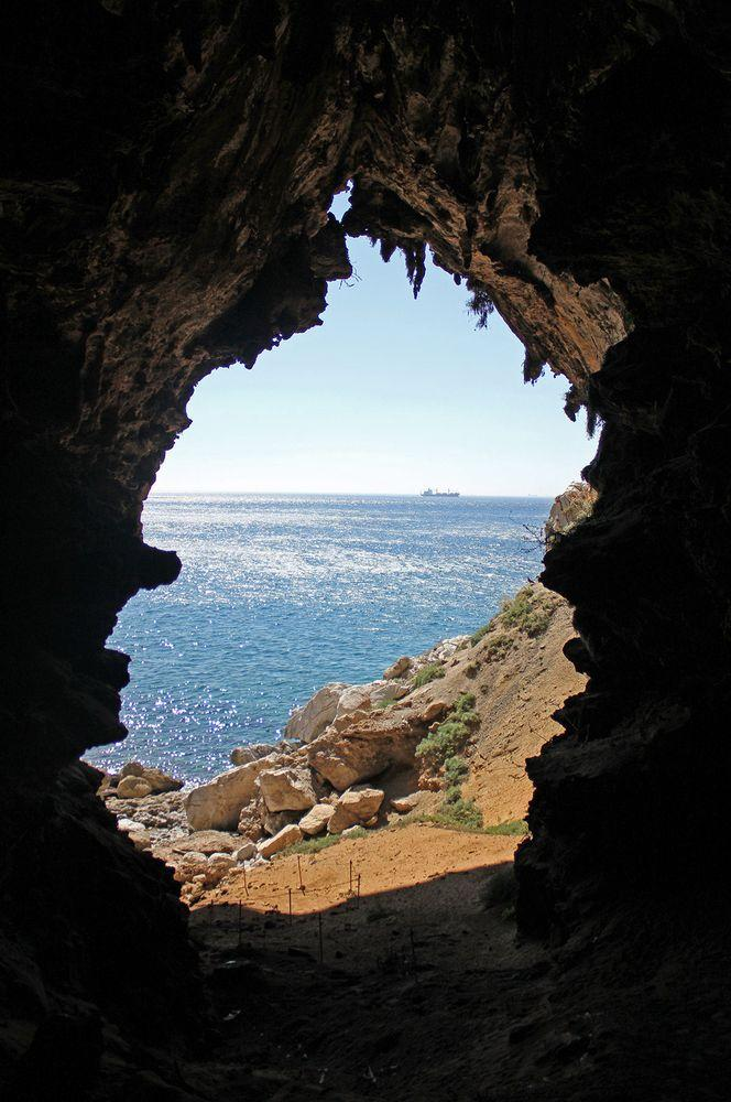 View from Gorham's Cave, Gibraltar