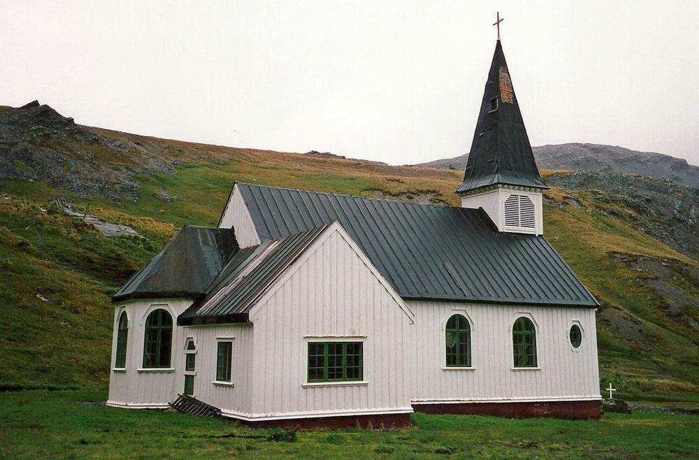 Grytviken Church in South Georgia, side view