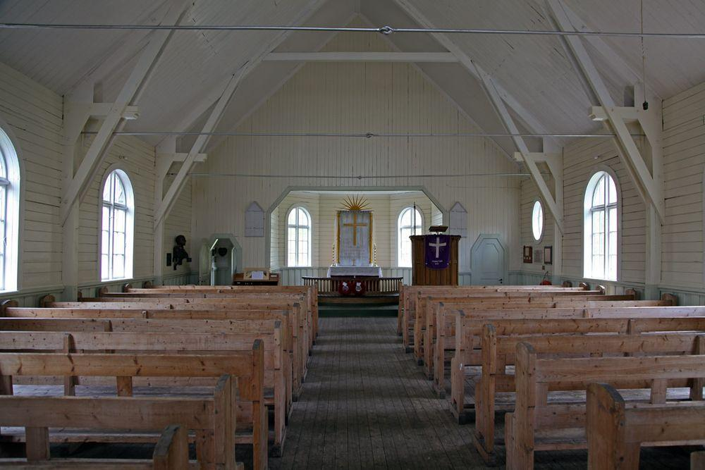 Grytviken Church in South Georgia, interior
