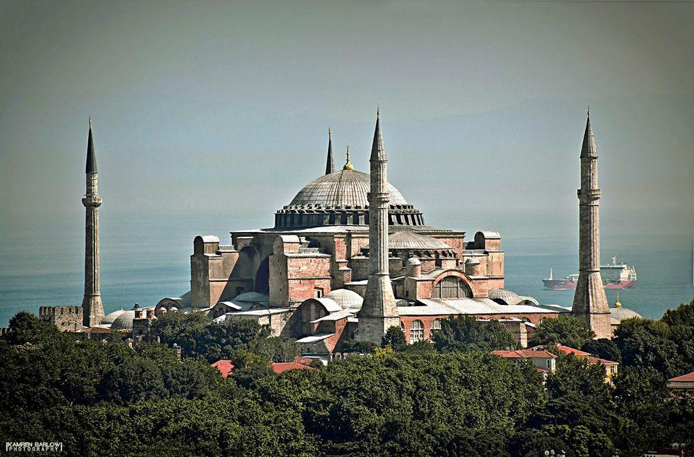 Hagia Sophia as seen from Galata Tower, Istanbul