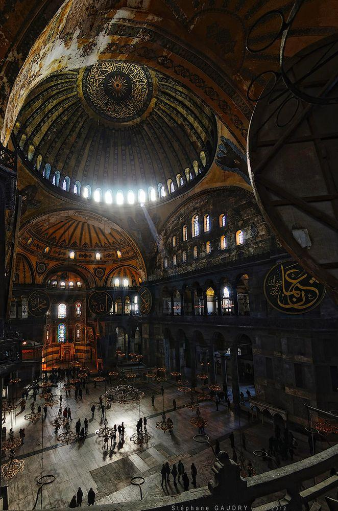 Interior of Hagia Sophia, Istanbu