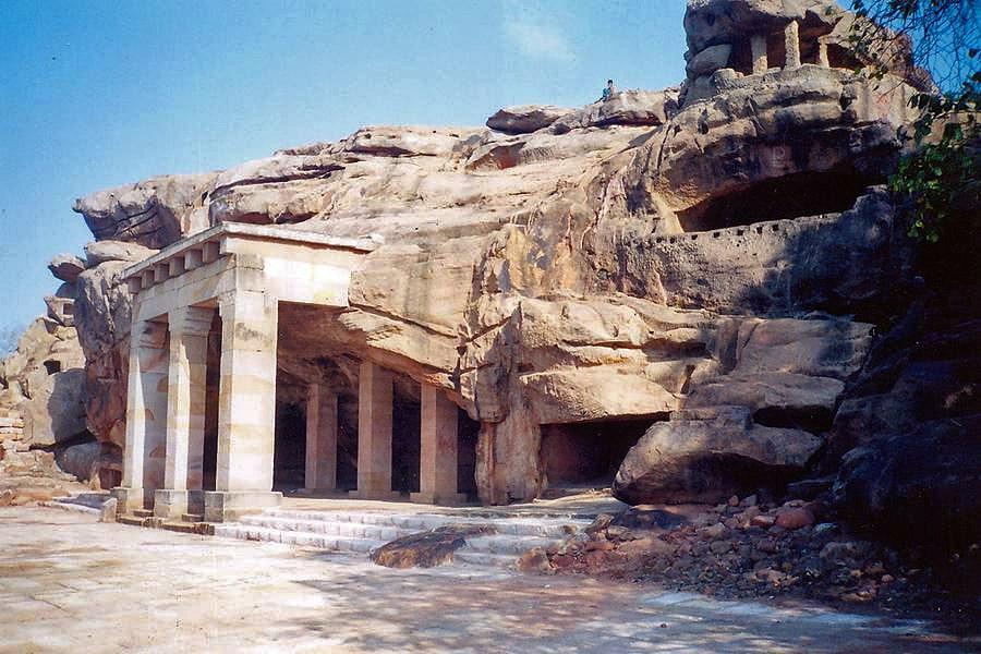 Hathi Gumpha Cave in Odisha, entrance