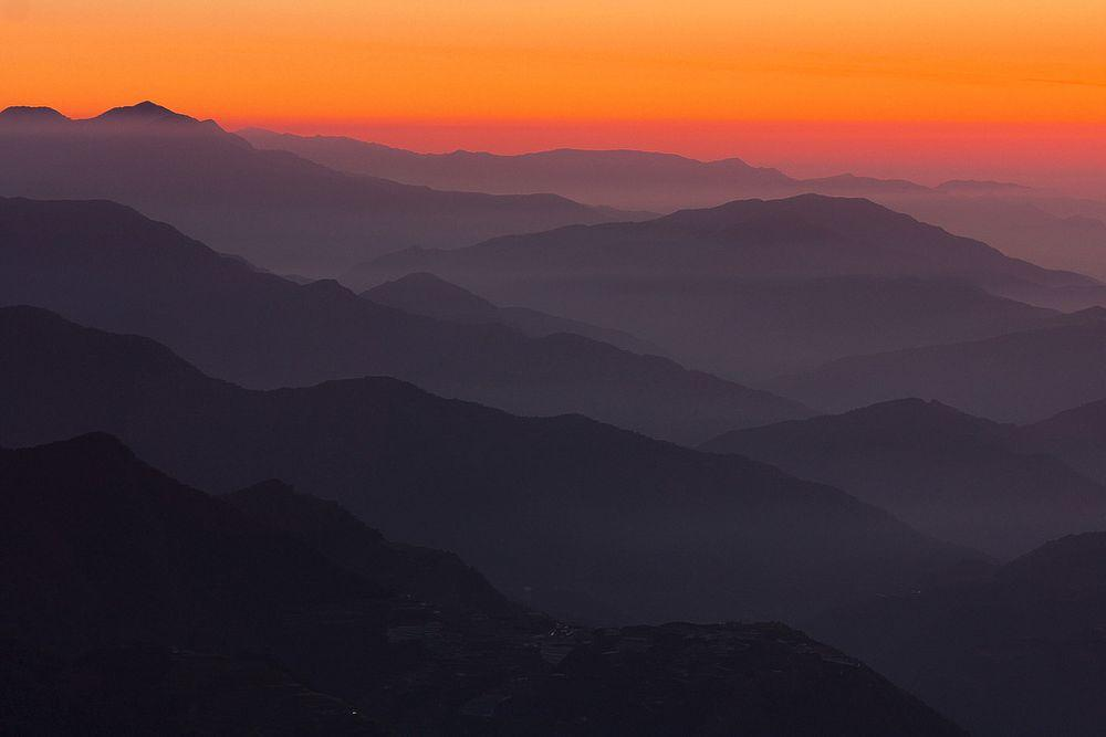 Sunrise from Hehuanshan, Taiwan