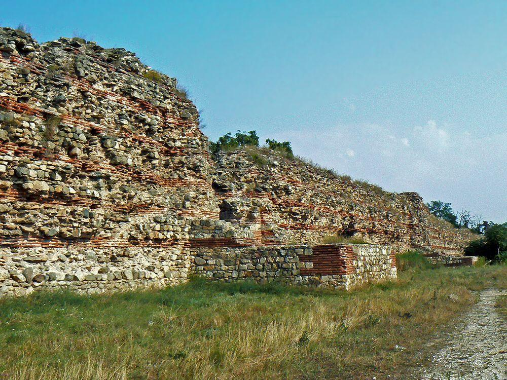 Roman city walls in Hisarya, Bulgaria