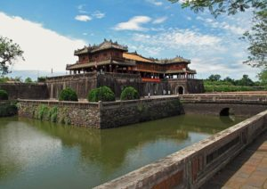 Ngo Mon gate leading into Hue Imperial City, Vietnam