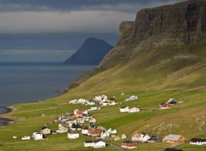 Landscape around Hvalba village, Faroe Islands