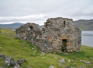 Ruins of Hvalsey Fjord Church - the only remaining early medieval European structure in America, Greenland