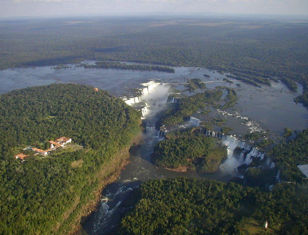 Iguazu Falls from above