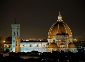 Florence Cathedral in the night, Italy