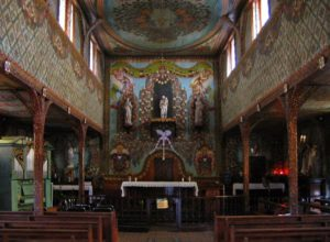 Interior of Iracoubou church, French Guiana