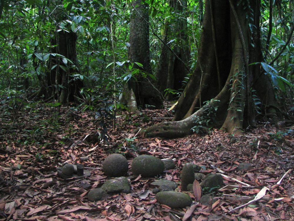 Stone spheres on Isla del Caño, Boruca cemetery, Costa Rica