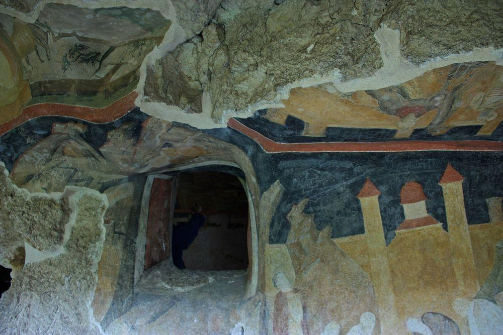 Frescoes in Ivanovo rock cut church, Bulgaria