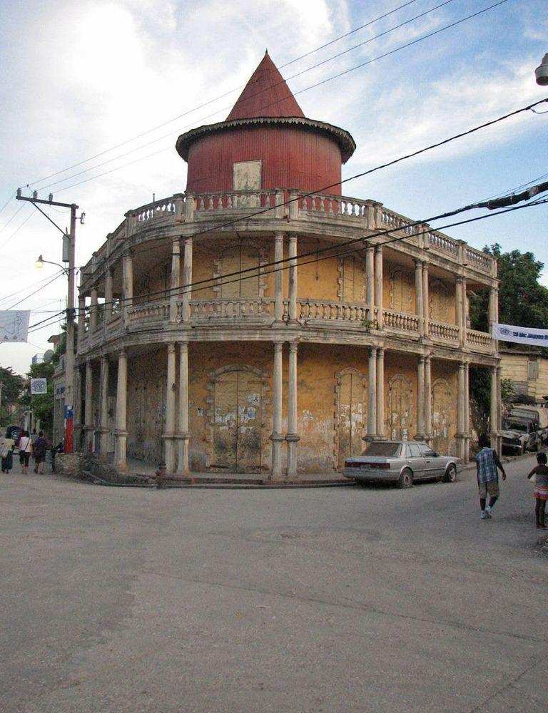 Historical building in Jacmel, Haiti