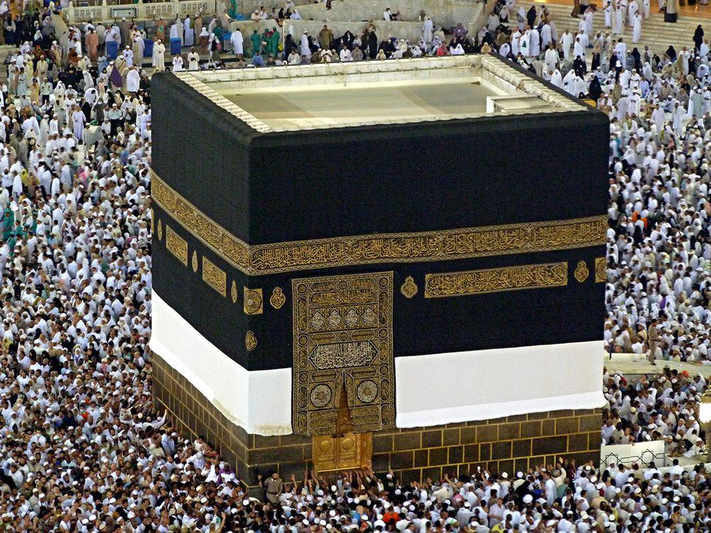 Kaaba, golden door visible, Saudi Arabia