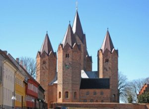 The five towered Kalundborg Church, Denmark