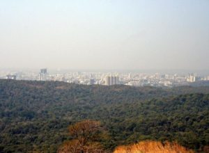 View from the hill above Kanheri Caves towards suburbs of Mumbai