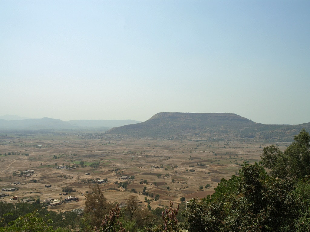 View on surrounding landscape from Karla Caves, India