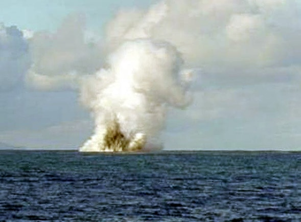 Kavachi submarine eruption, Solomon Islands