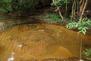 Stone carvings in the Kbal Spean riverbed, Cambodia