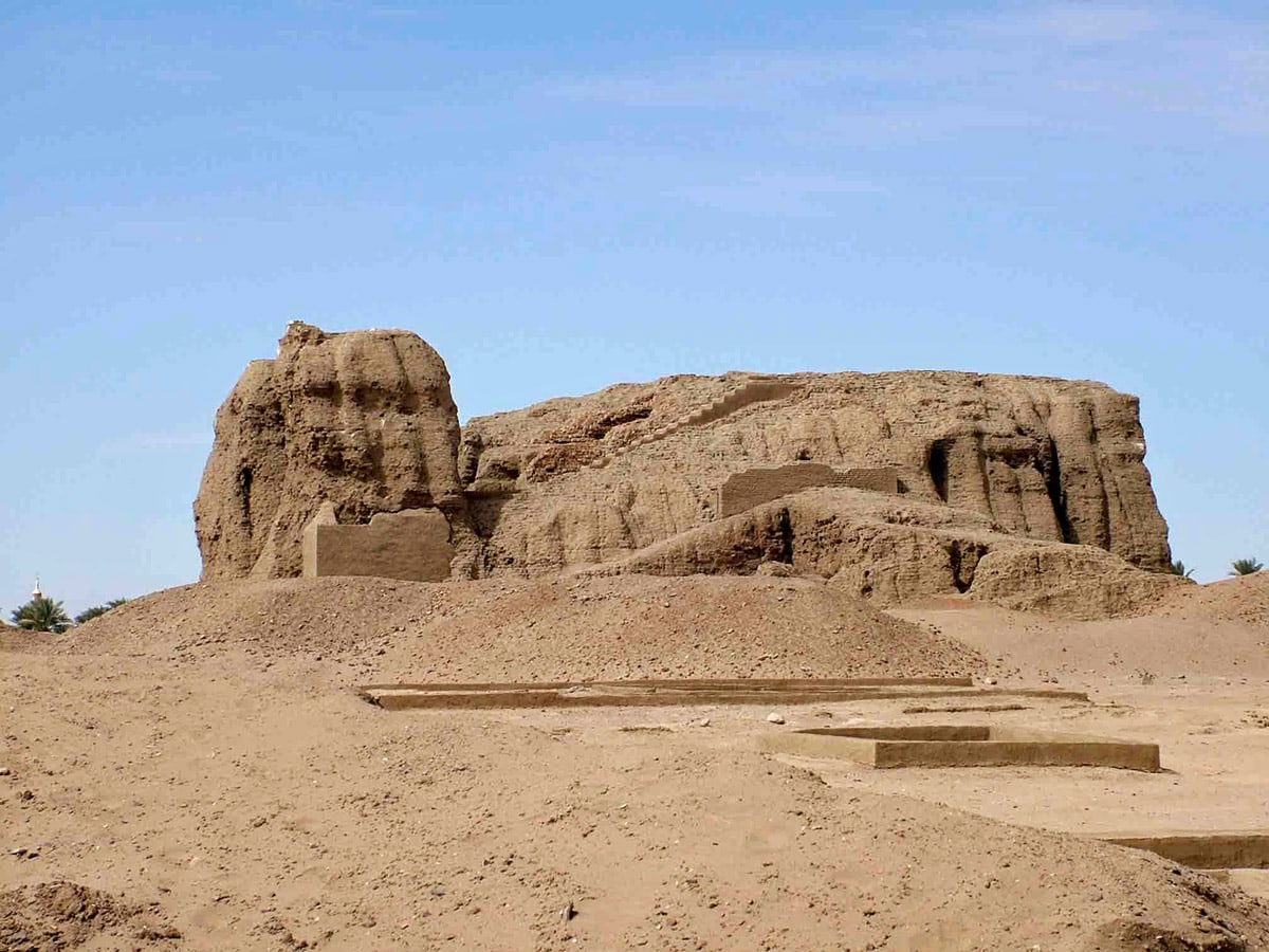Ruins of the giant deffufa in Kerma, Sudan