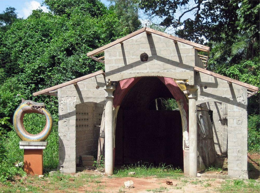 Entrance into the most sacred part of Kpasse Sacred Forest, Benin
