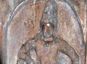 Dvarapala in Melakkoil Cave Temple, India