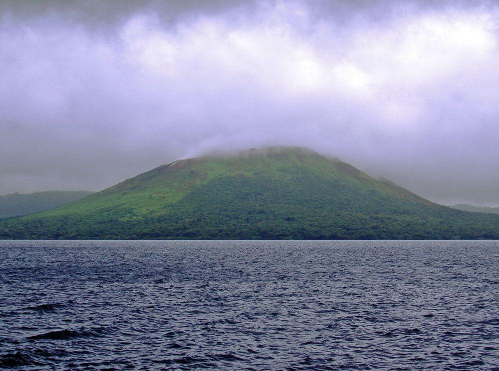 Lake Letas with Mount Gharat, Vanuatu