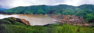Lake Nyos one month after the eruption of carbon dioxide, Cameroon