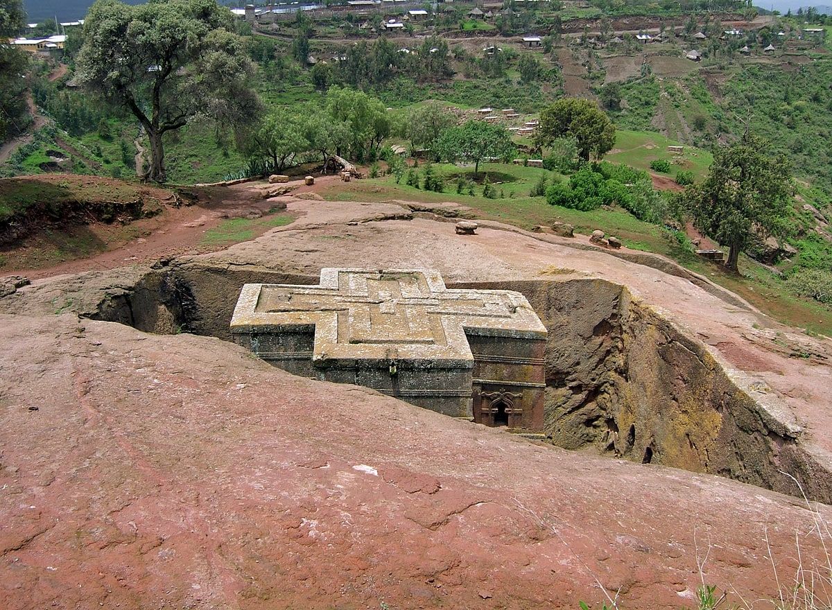Bete Giyorgis Church in Lalibela, Ethiopia