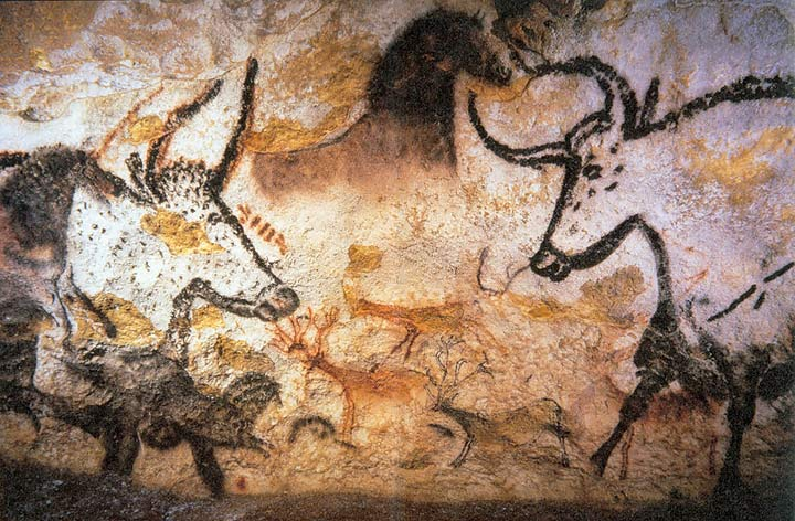 Paintings in Lascaux Cave - aurochs