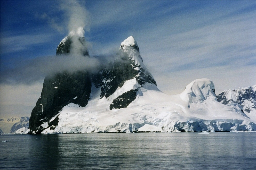 Cape Renard cliffs, Lemaire Channel in Antarctica