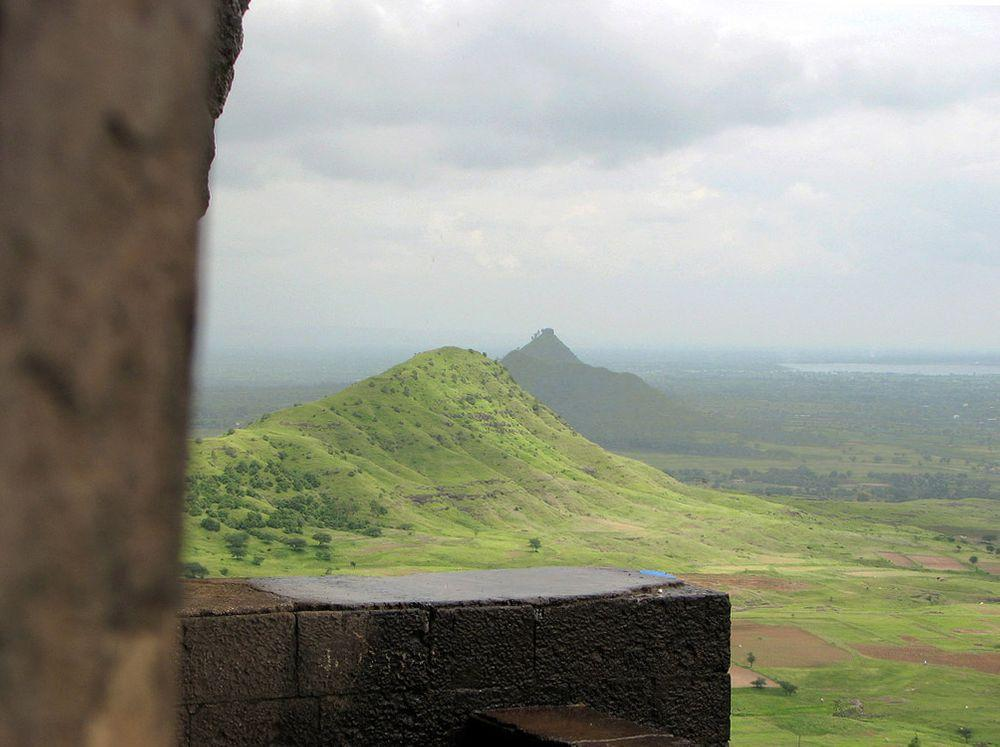 View from Lenyadri Caves, India