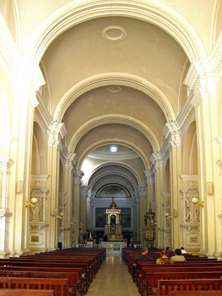 Interior view, Leon Cathedral in Nicaragua