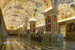 Sistine hall in Vatican Library