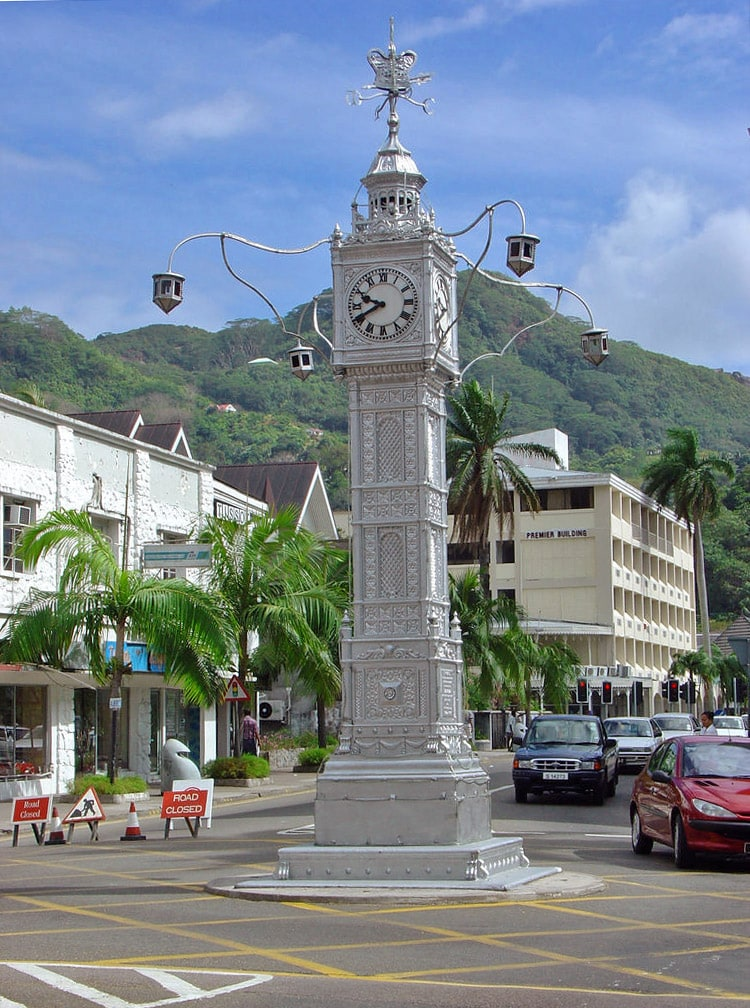 Lorloz in the centre of Victoria, Seychelles
