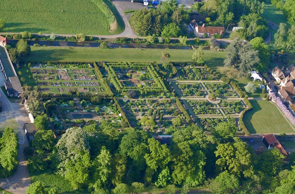 Loseley Park Garden from above, Surrey