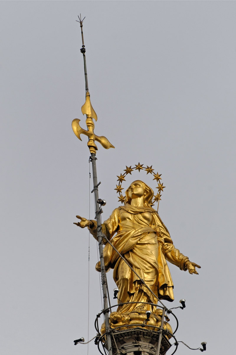 Statue of Madonnina on Milan Cathedral - symbol of Milan