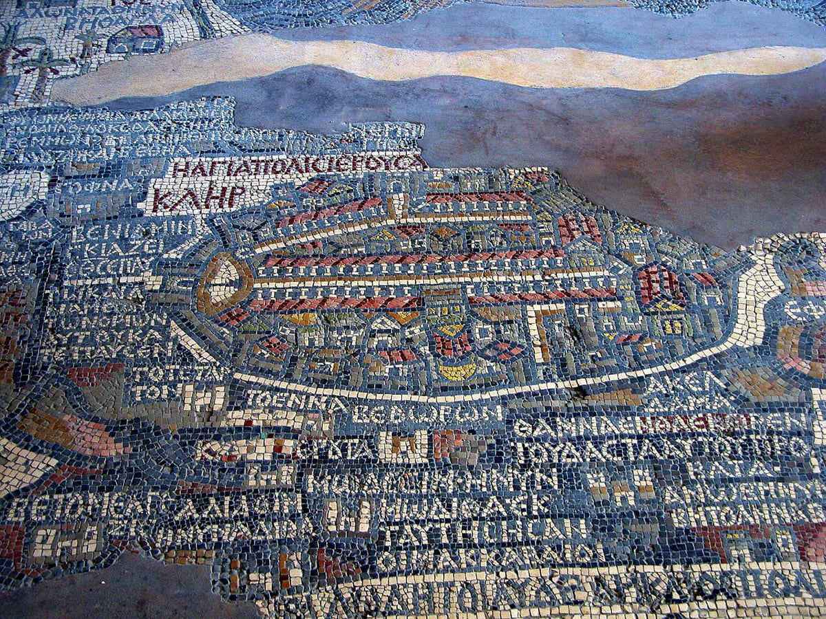 Map of Jerusalem in St George church, Jordan